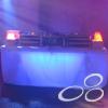 DJ-booth, met blacklights en cover naar keuze